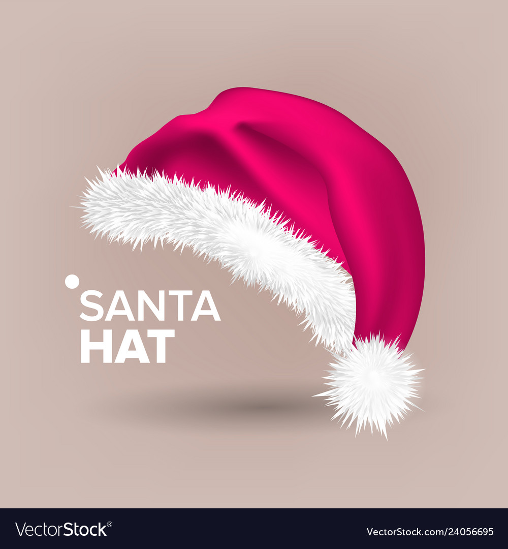 Pink santa hat party icon head background