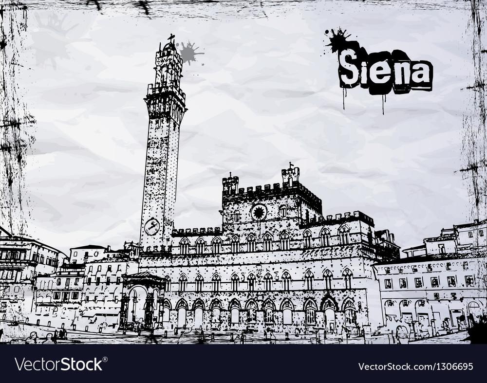 Siena City Hall on Piazza del Campo