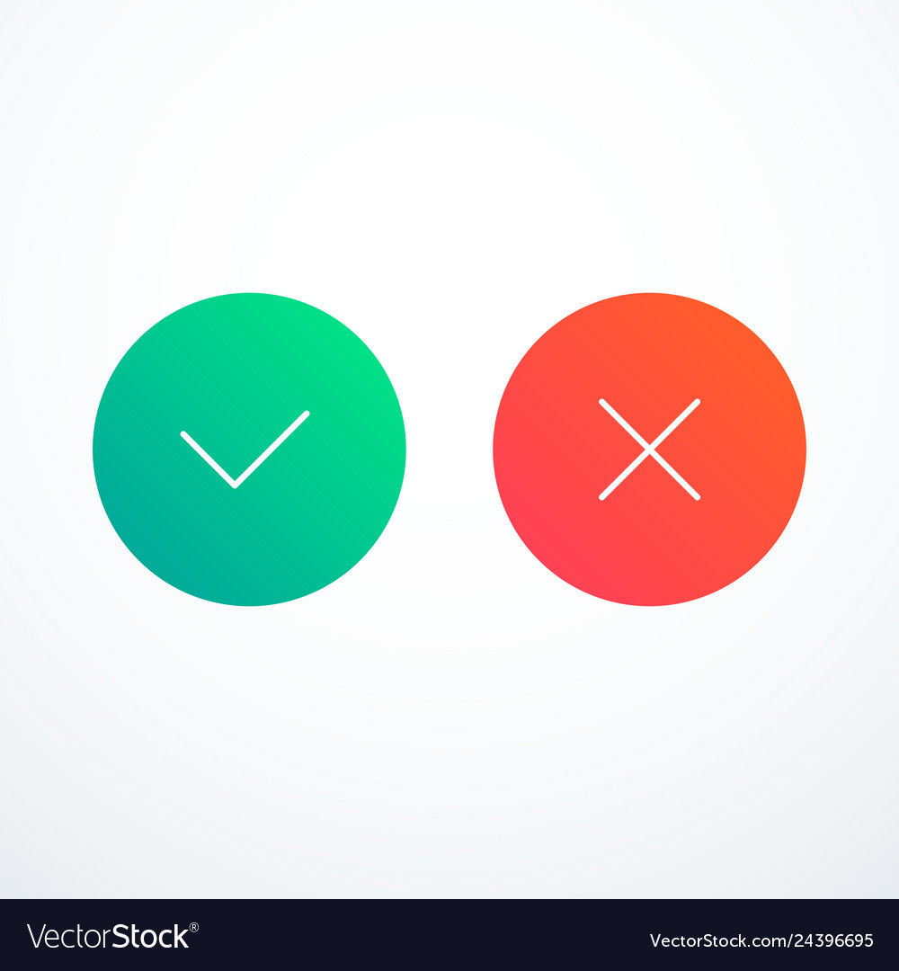 Tick and cross icons