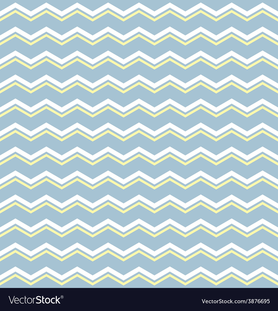 Tile pattern with white and yellow zig zag print Vector Image