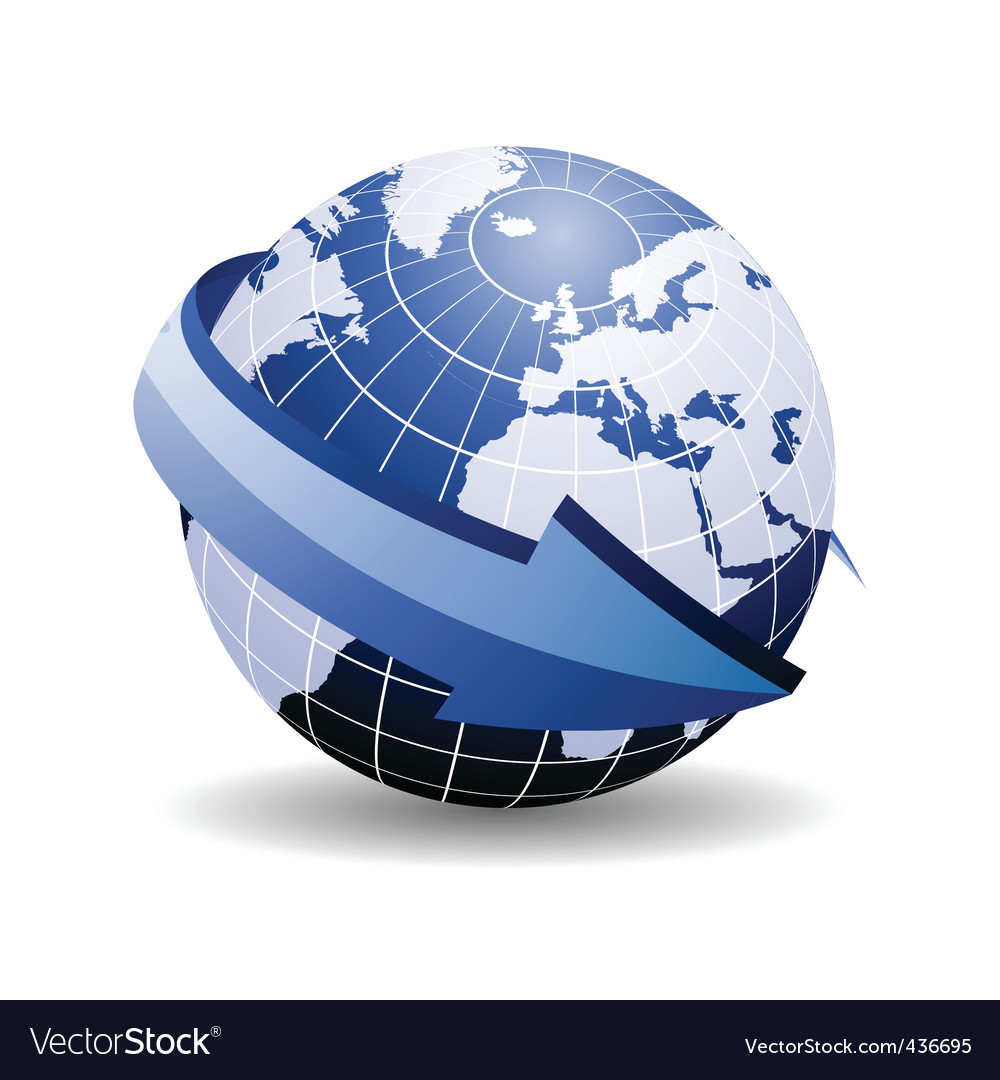 World map arrow royalty free vector image vectorstock world map arrow vector image gumiabroncs Gallery