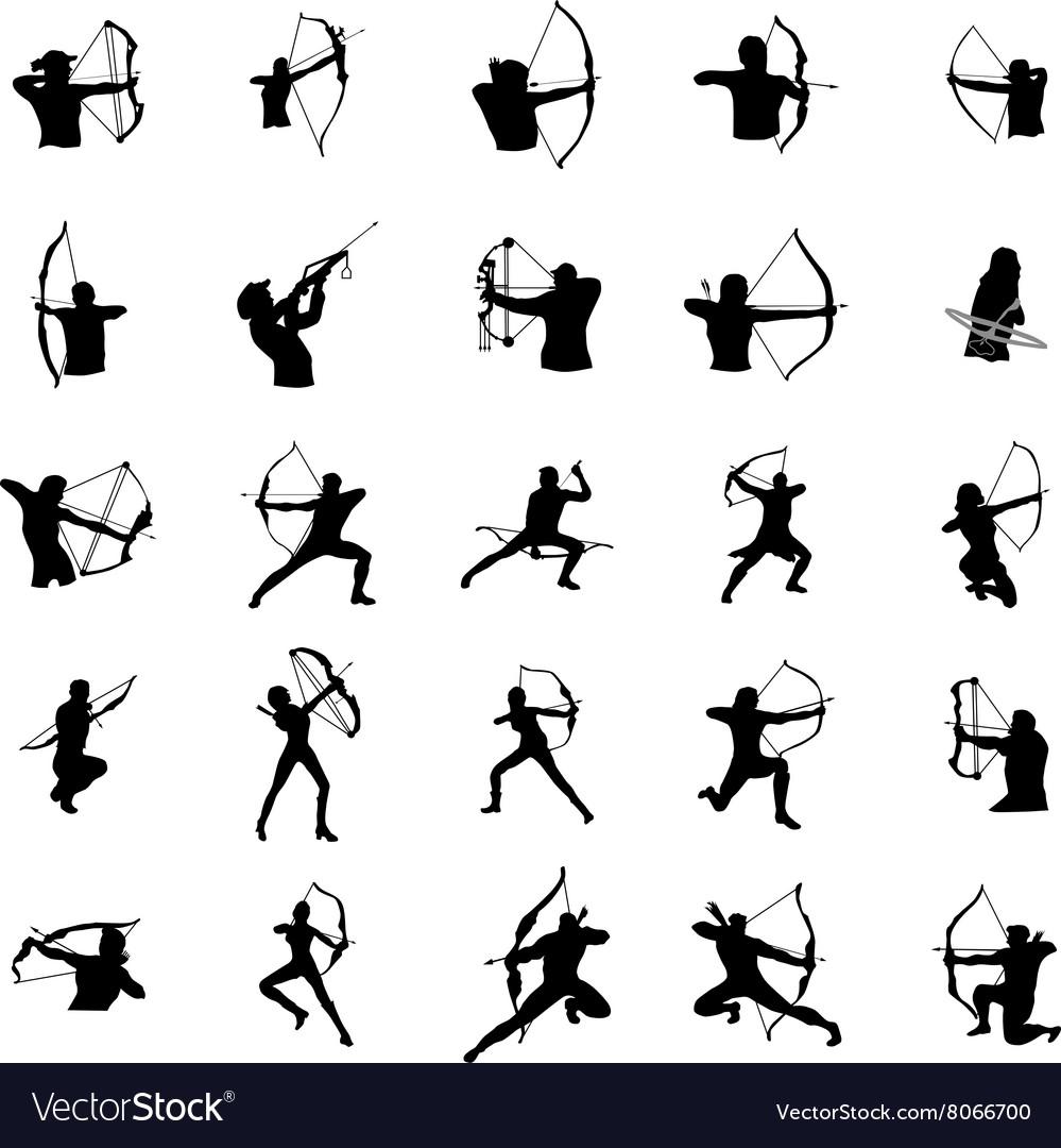 Archer silhouette set