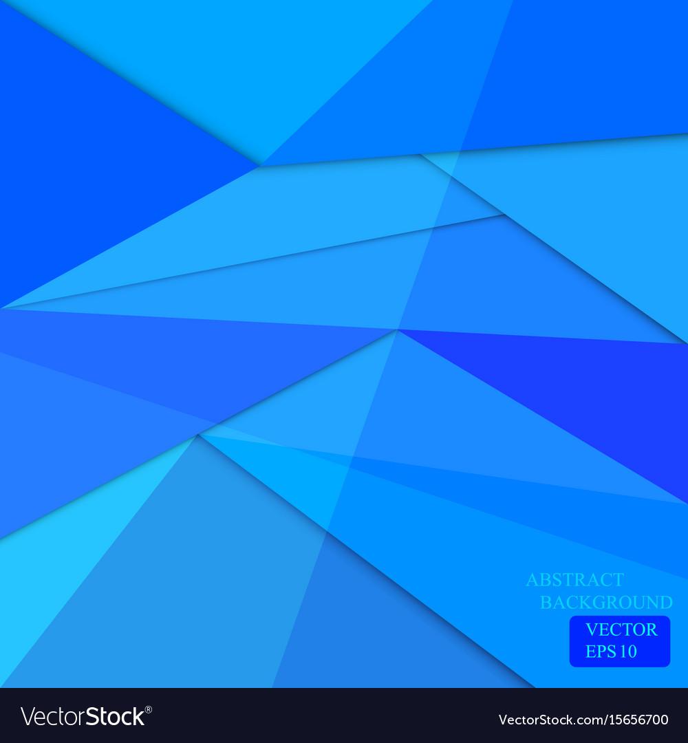 Blue polygon background web design vector image