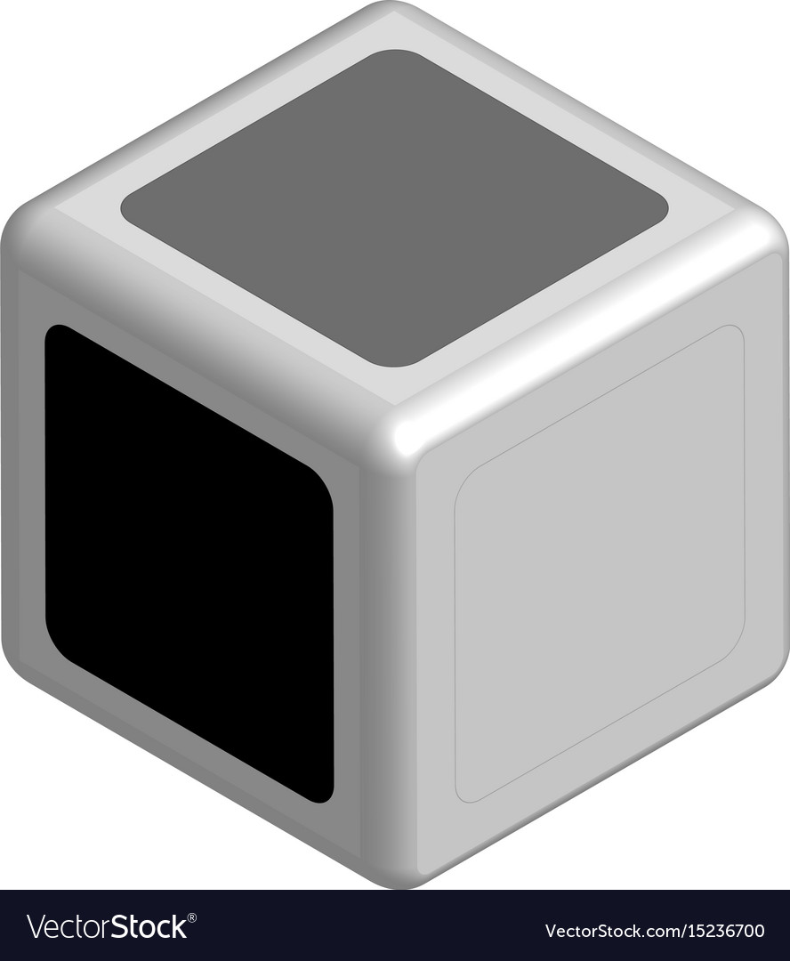 Dice concept black or white in 3d vector image