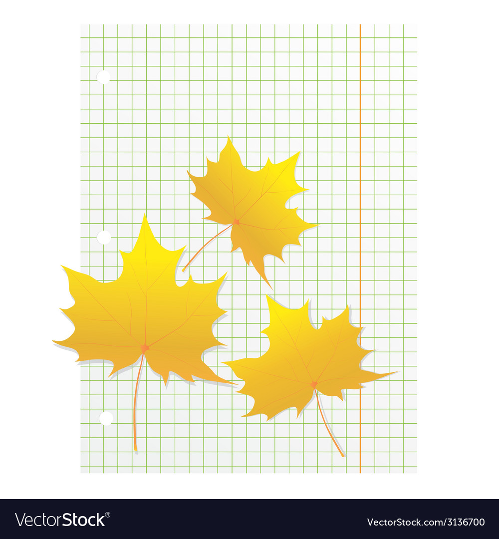 Maple leaves on a writing book in a cage