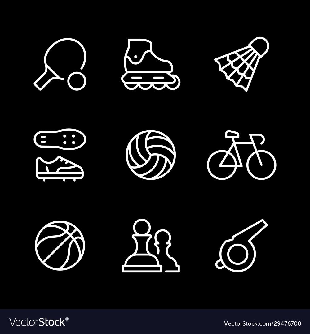 Set line icons sport