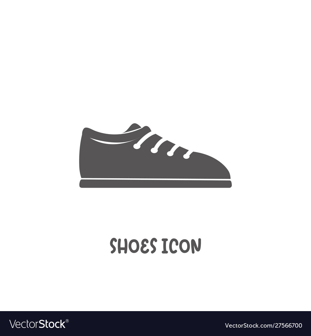 Shoes icon simple flat style