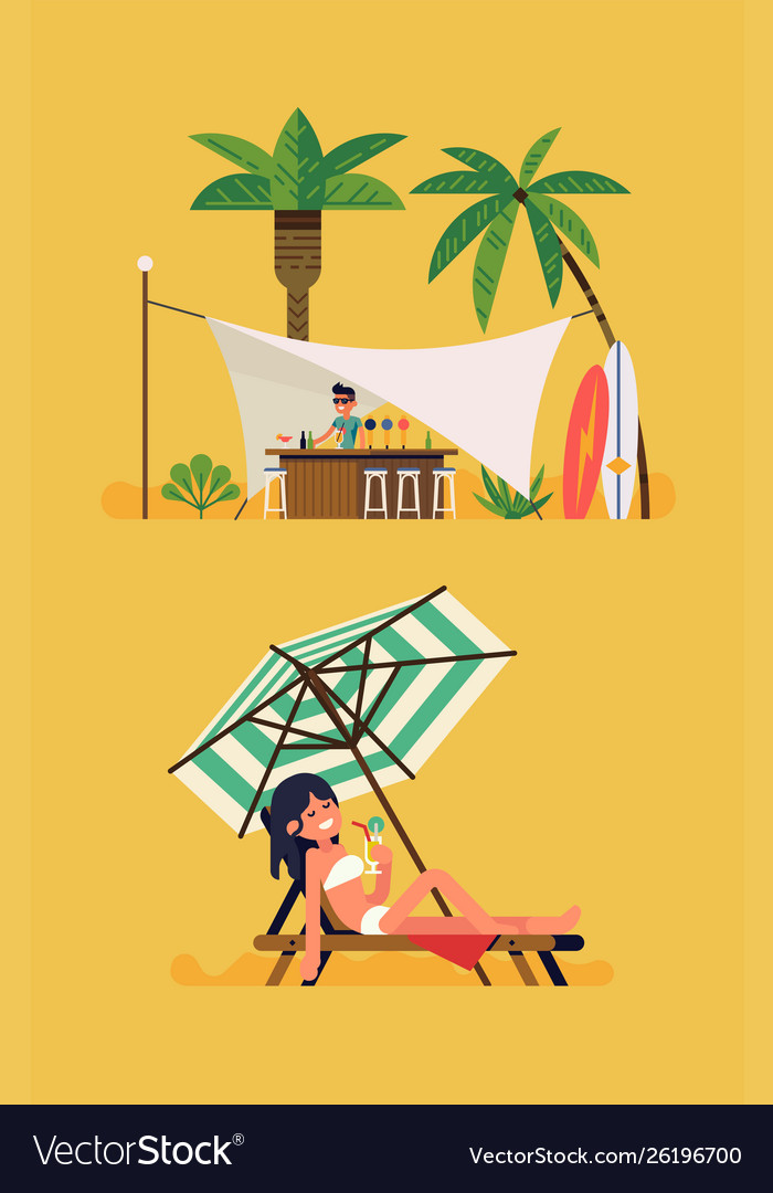 Summer beach cocktail bar concept