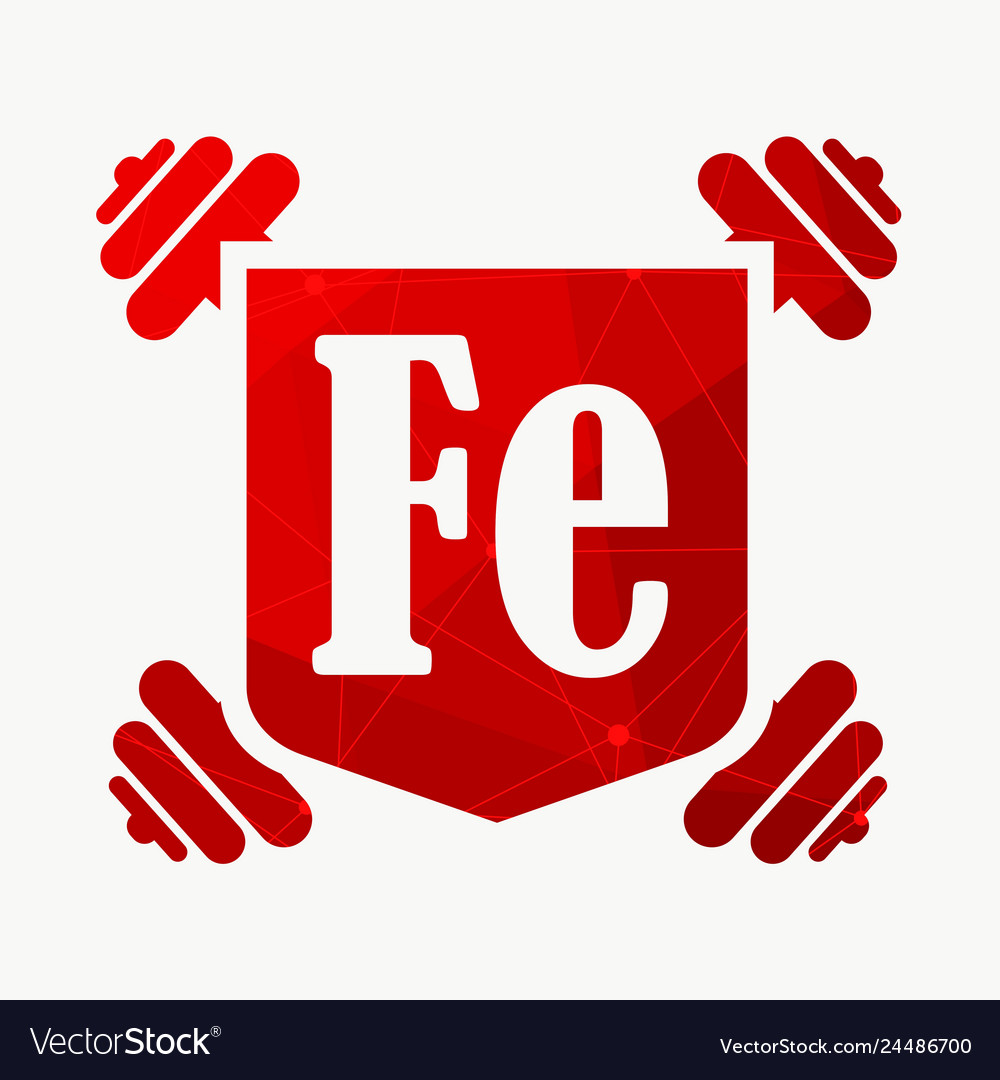 Text and dumbbells bodybuilding coat of arms