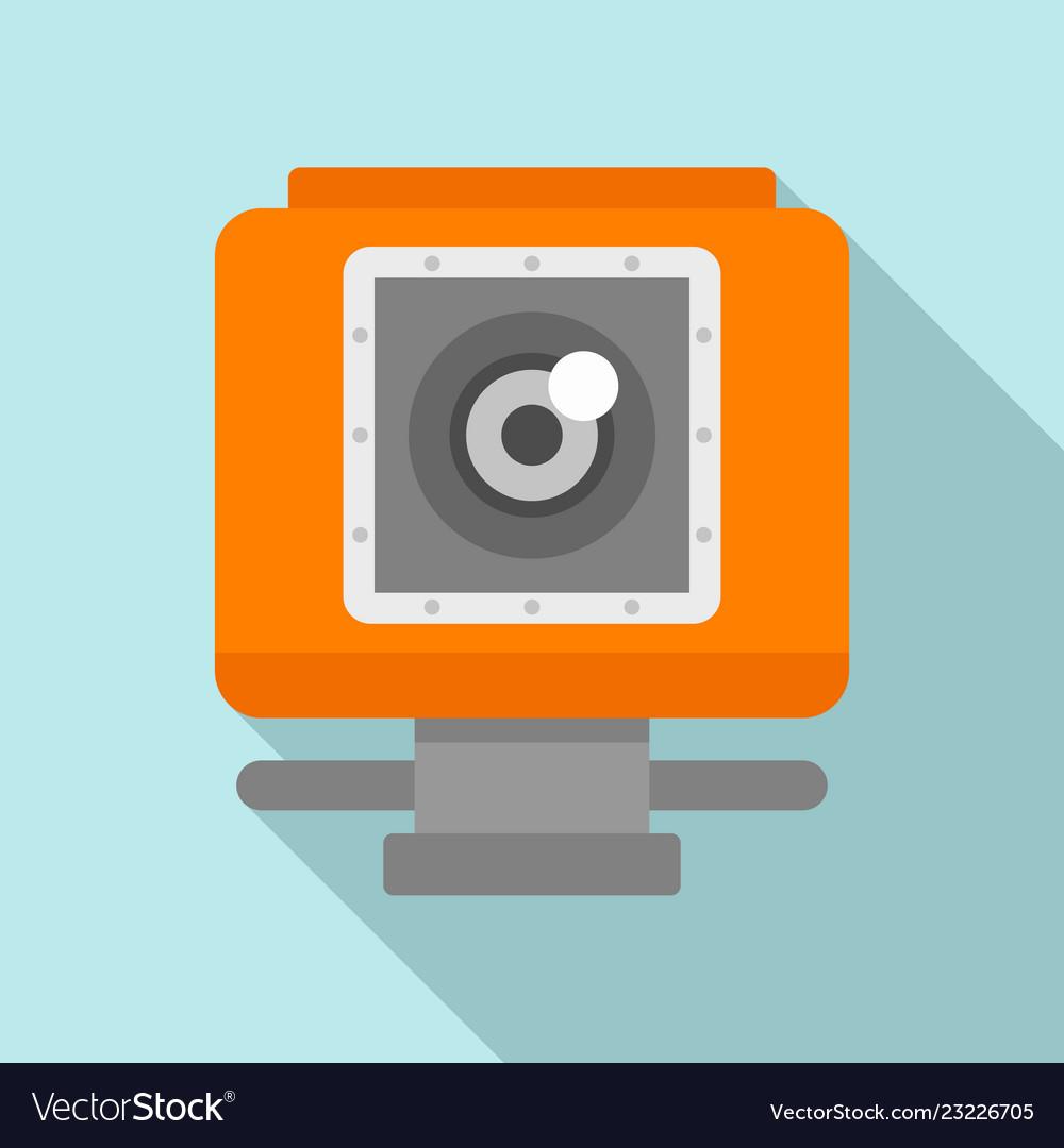 Action camera icon flat style