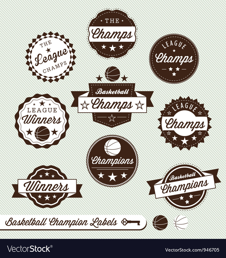 Basketball Champs Labels