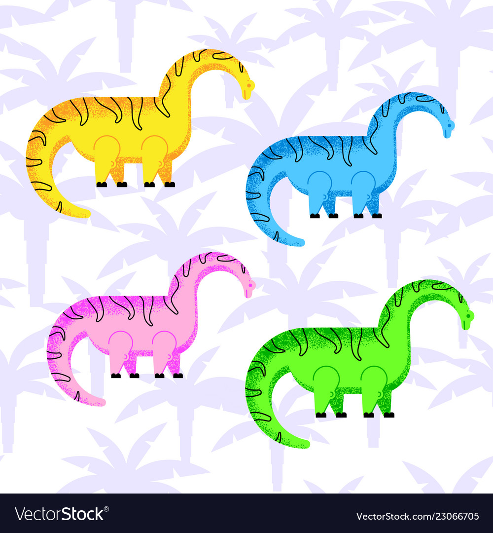 Colored dinosaurs set