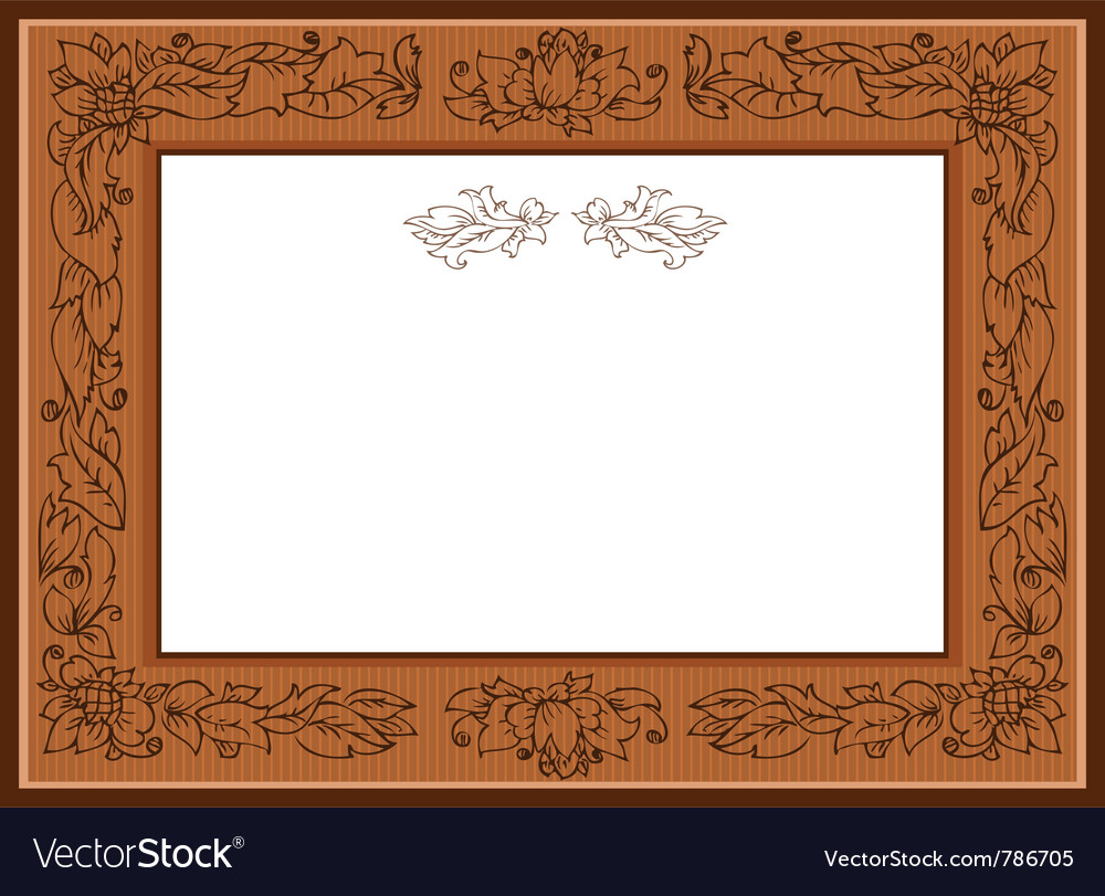 Frame with foliate doodles
