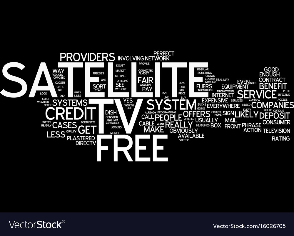 Free satellite tv offers text background word