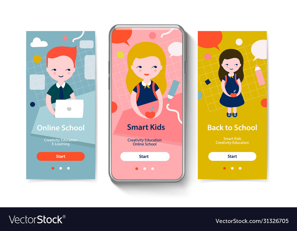 Onboarding screens for mobile app templates