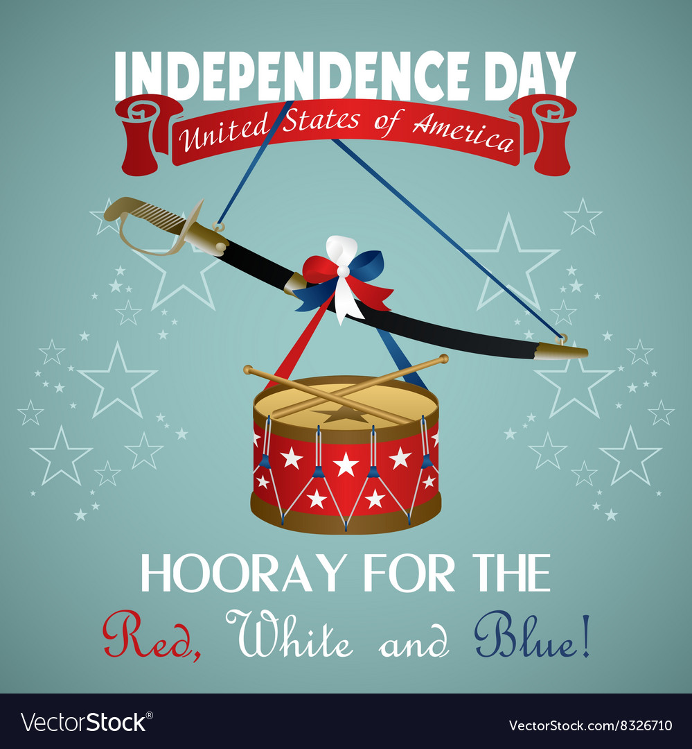 4 july Independence Day festive background
