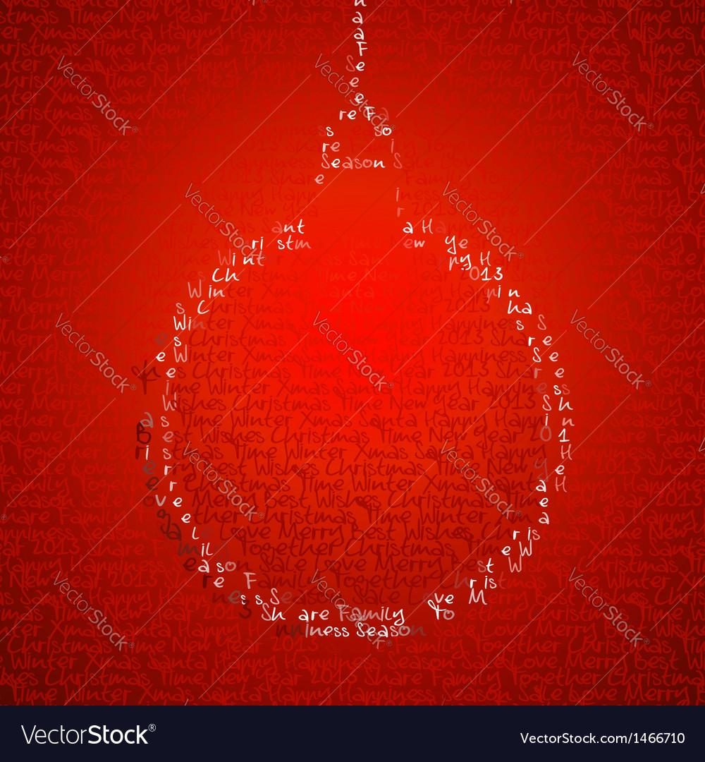 Christmas bauble shape vector image
