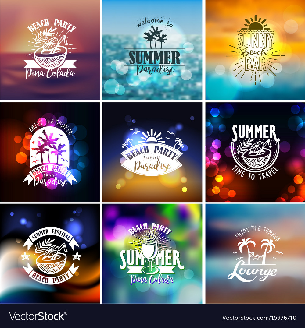 Designs for summer beach party