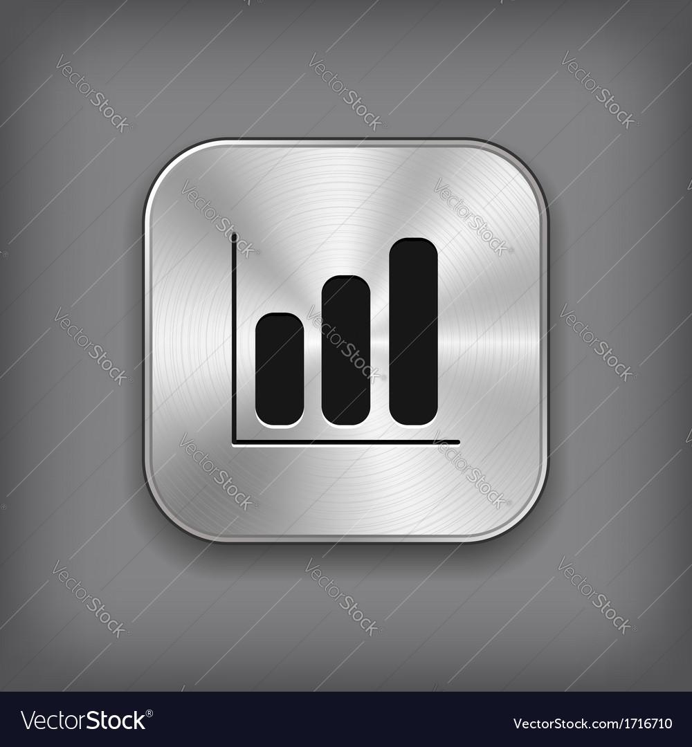 Diagram icon - metal app button