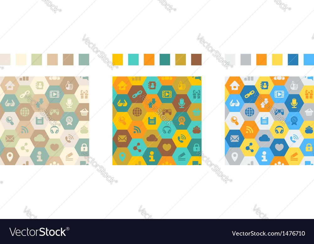 Internet Cells Seamless Pattern