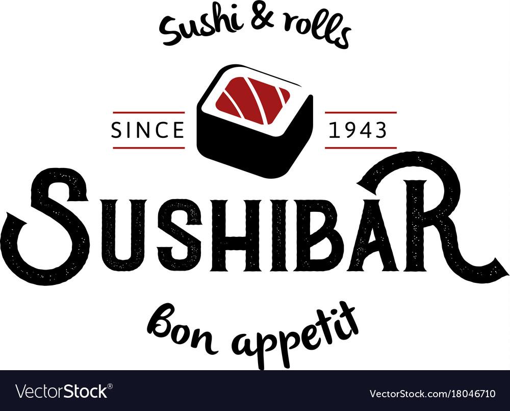 Logo and emblem for restaurants of japanese