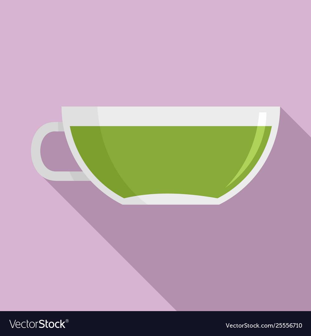 Matcha cup tea icon flat style