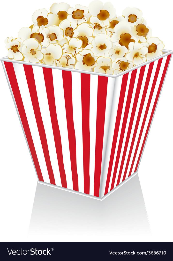 Popcorn in a box vector image