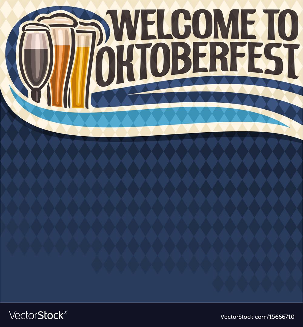 Poster for oktoberfest text