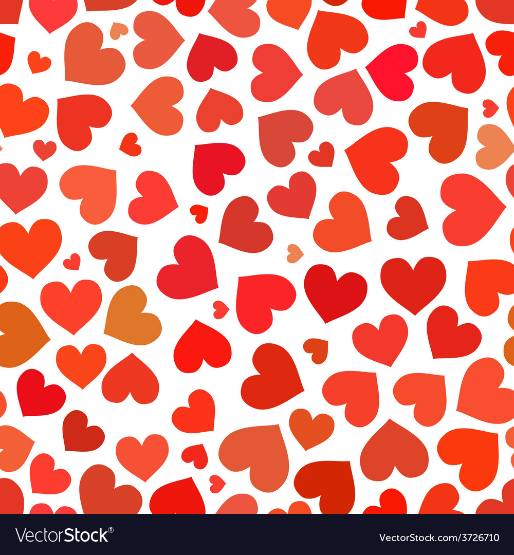 Red heart on a white background seamless pattern