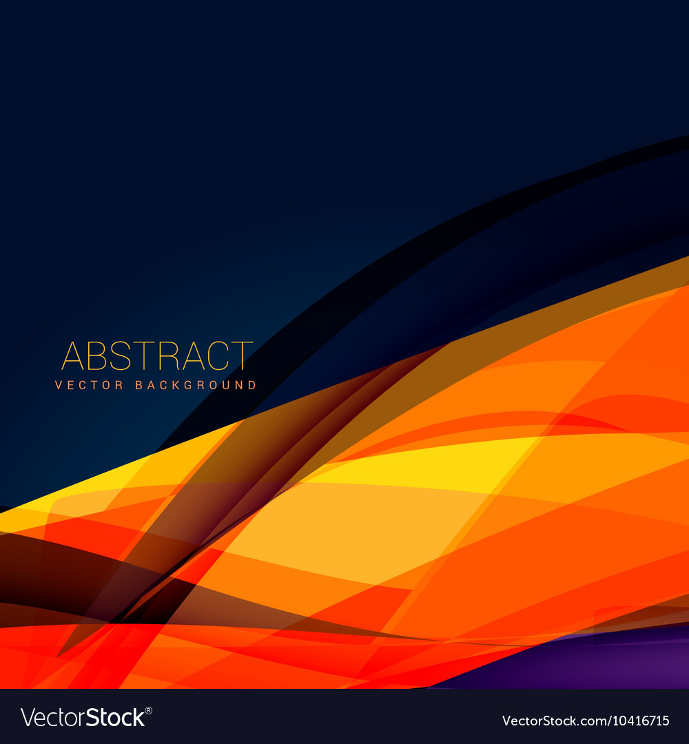 Abstract Orange Wave Style Background Design