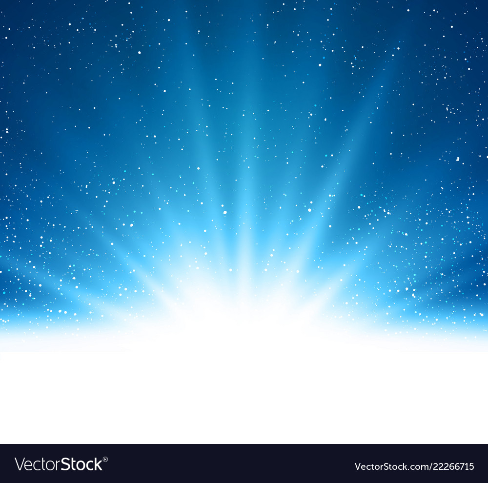 Abstract shiny magic blue light background
