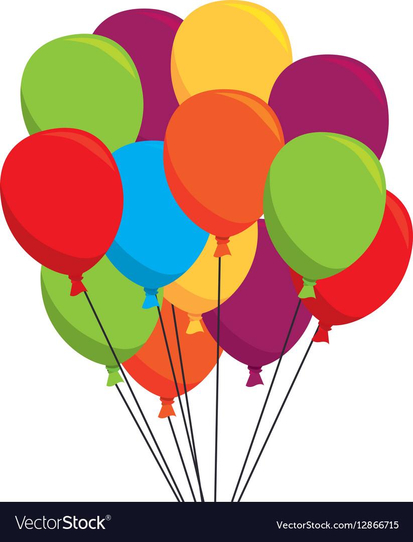 balloons air party icon royalty free vector image rh vectorstock com vector balloons free vector balloons talk