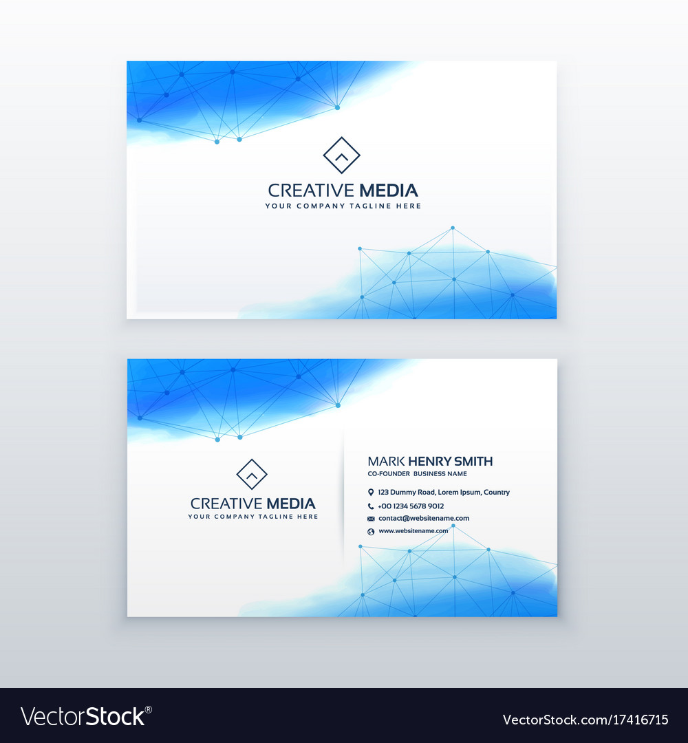 Creative business card simple design template vector image colourmoves