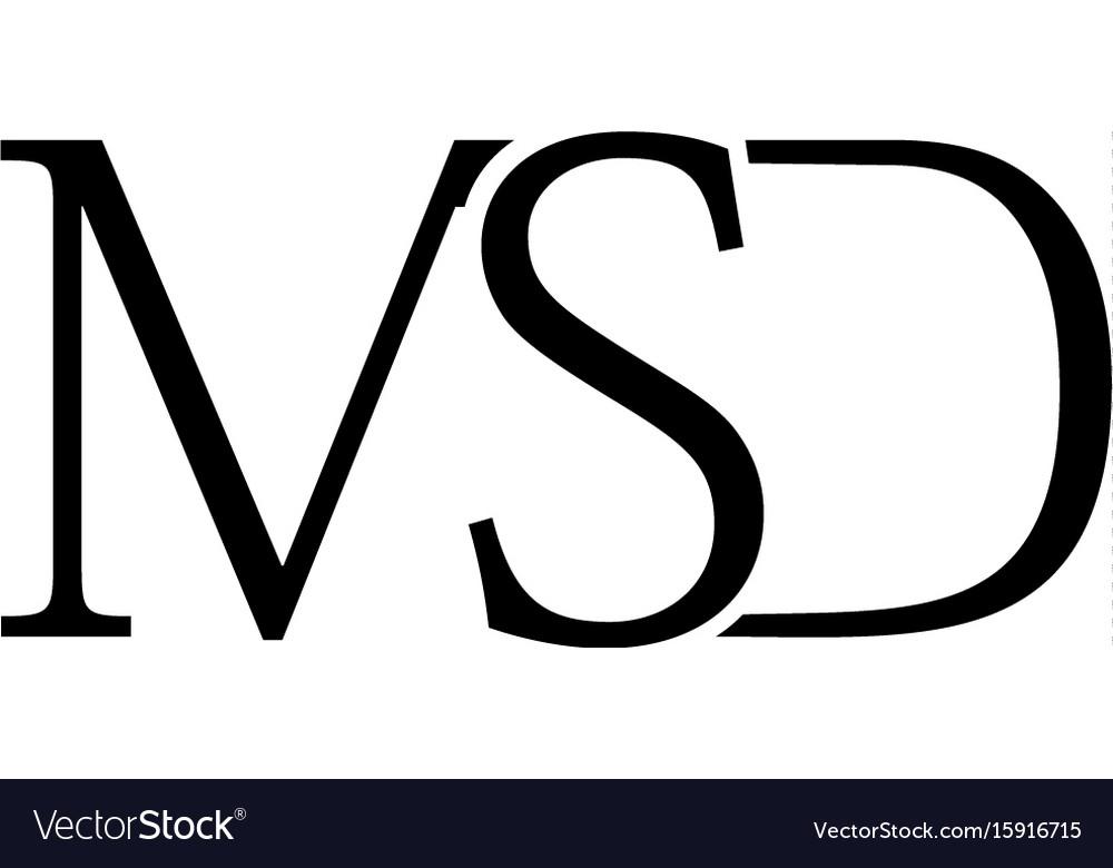 Msd letter logo vector image