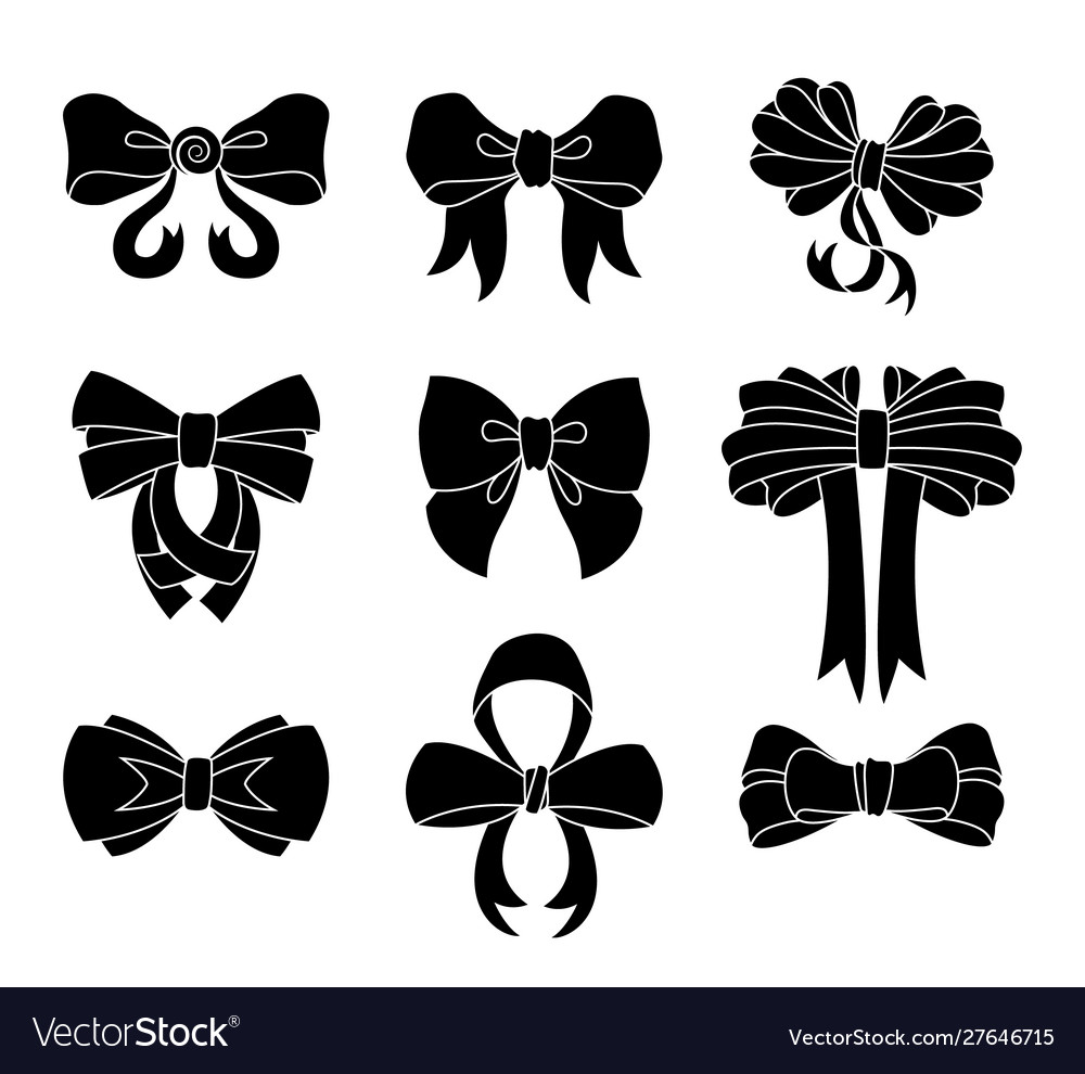 Set decorative bow for your design bow