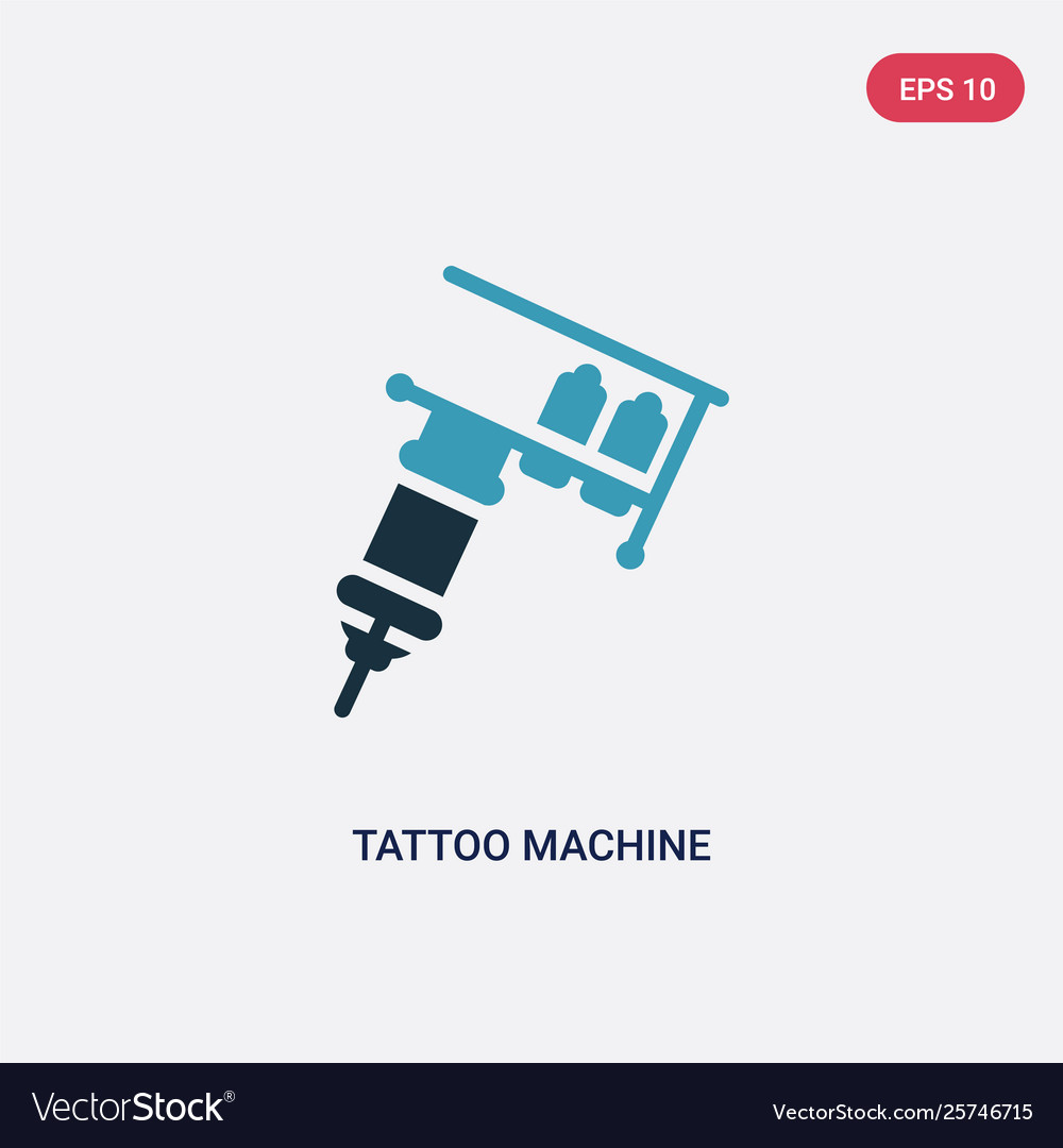Two color tattoo machine icon from other concept