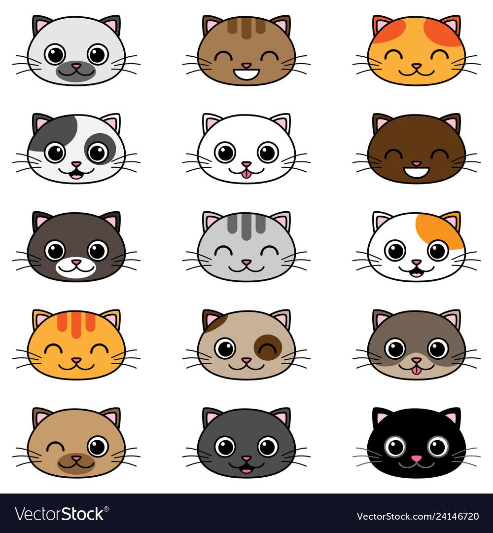 Cartoon Cats Royalty Free Vector Image Vectorstock