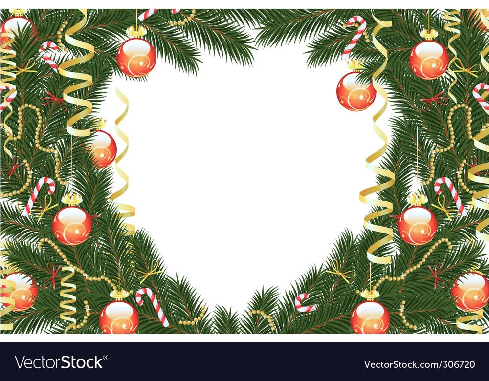 Christmas fir tree frame Royalty Free Vector Image
