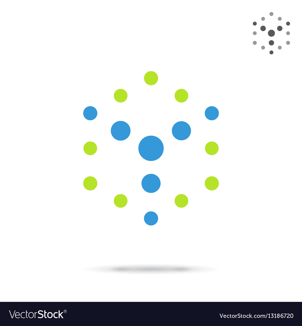 dotted cube logo template royalty free vector image