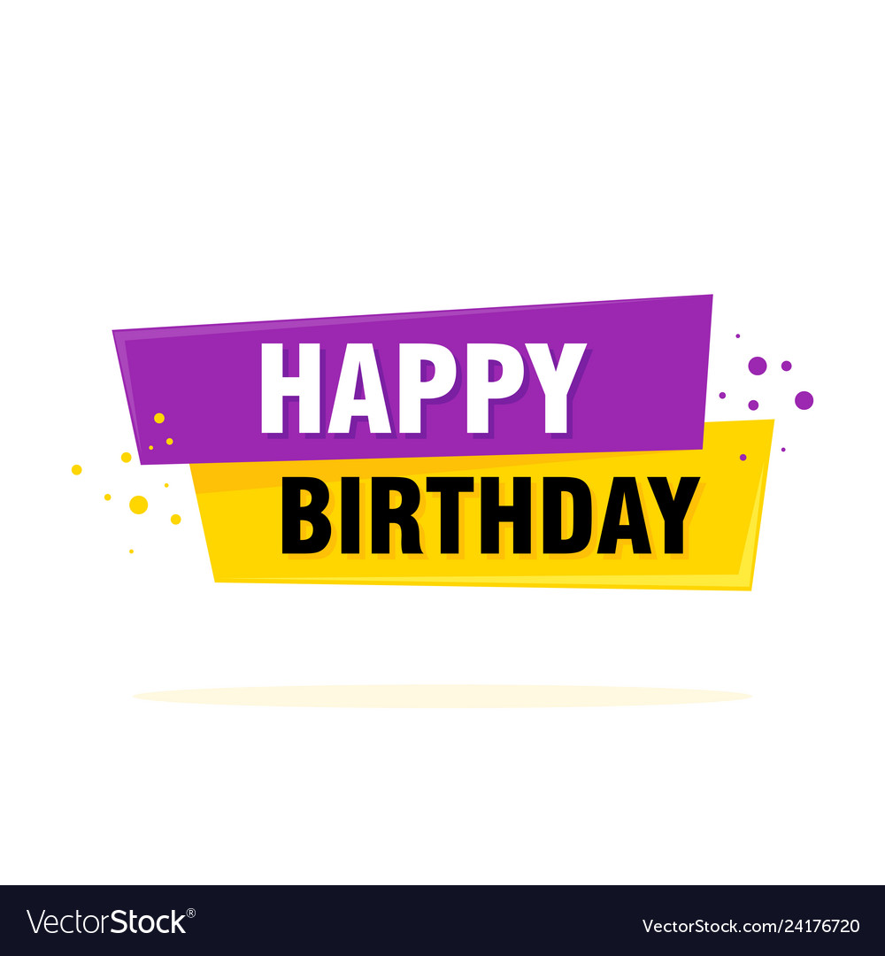 Happy birthday label sign greating card template