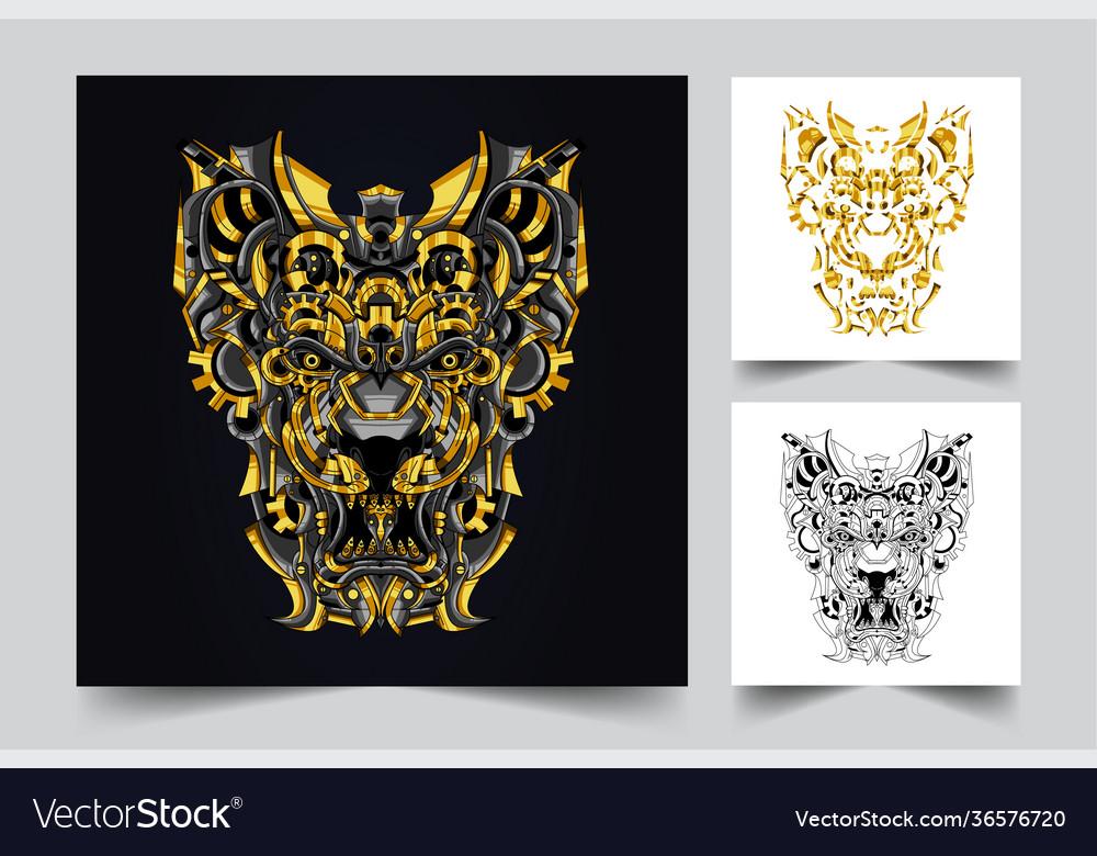 Lion ornamental artwork