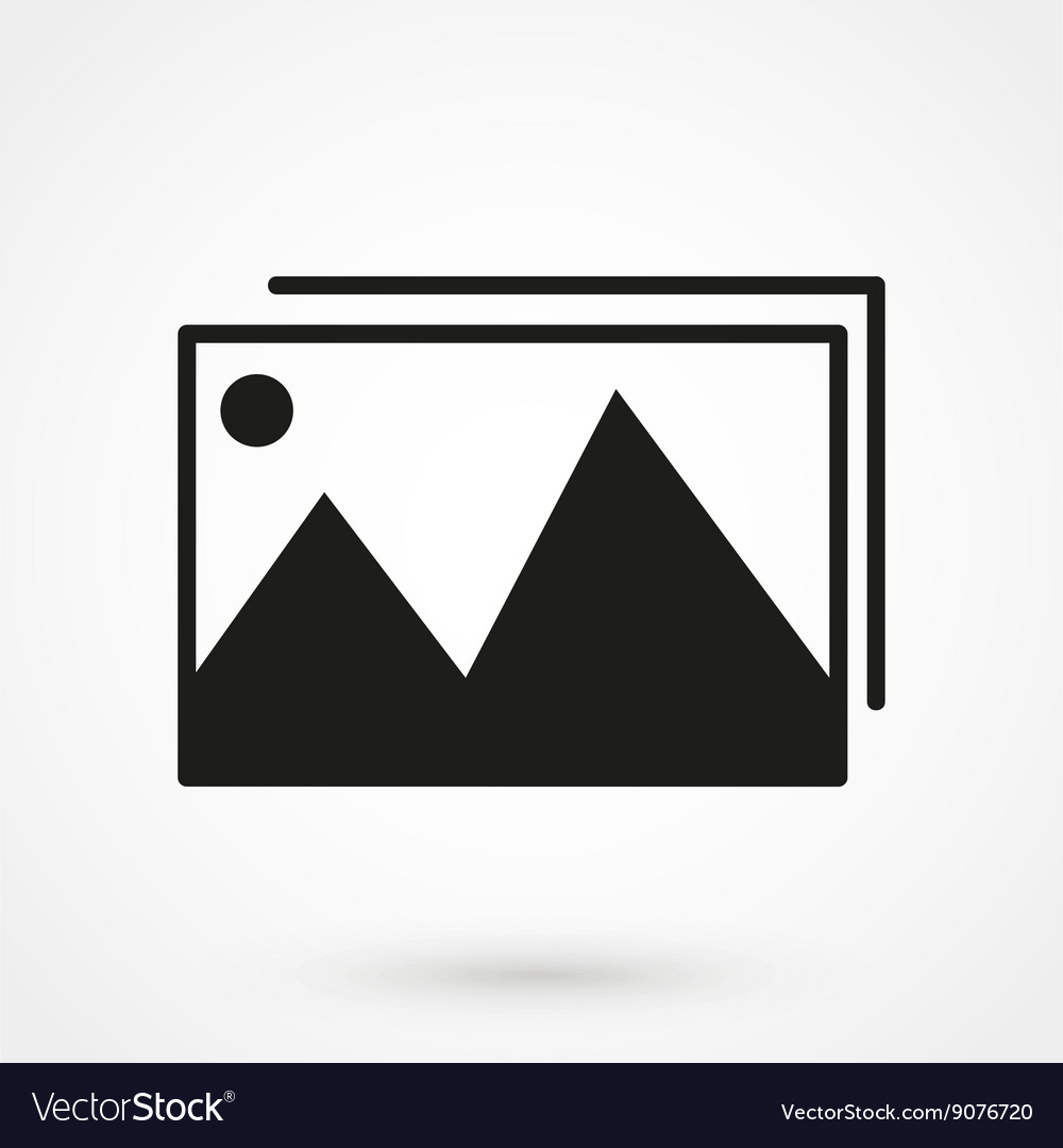 Photo gallery icon black on white background