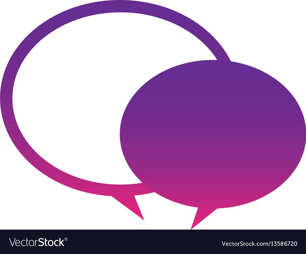 Purple round chat bubbles icon vector image