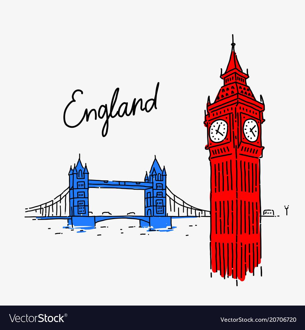 Symbol attractions england vector image