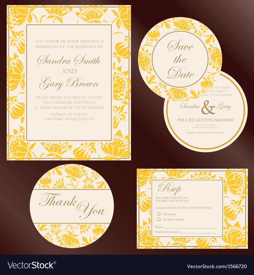 Wedding cards yellow copy