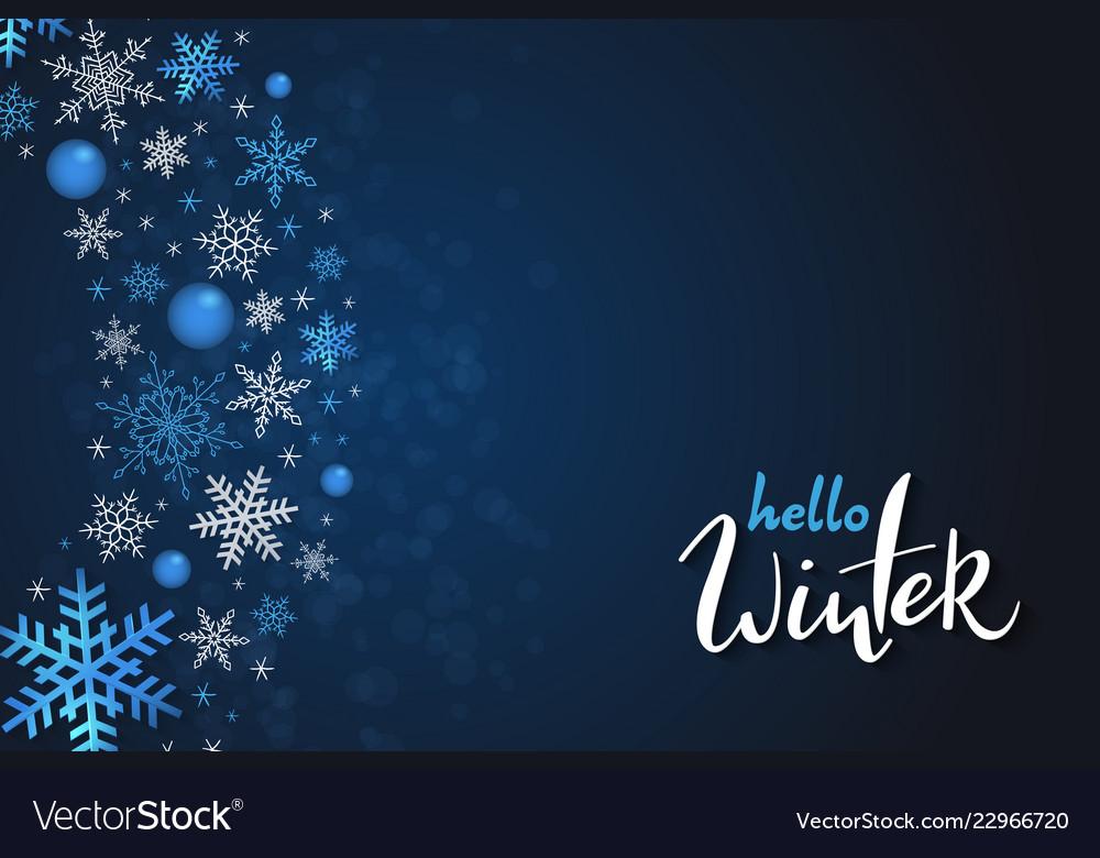 Winter banner template