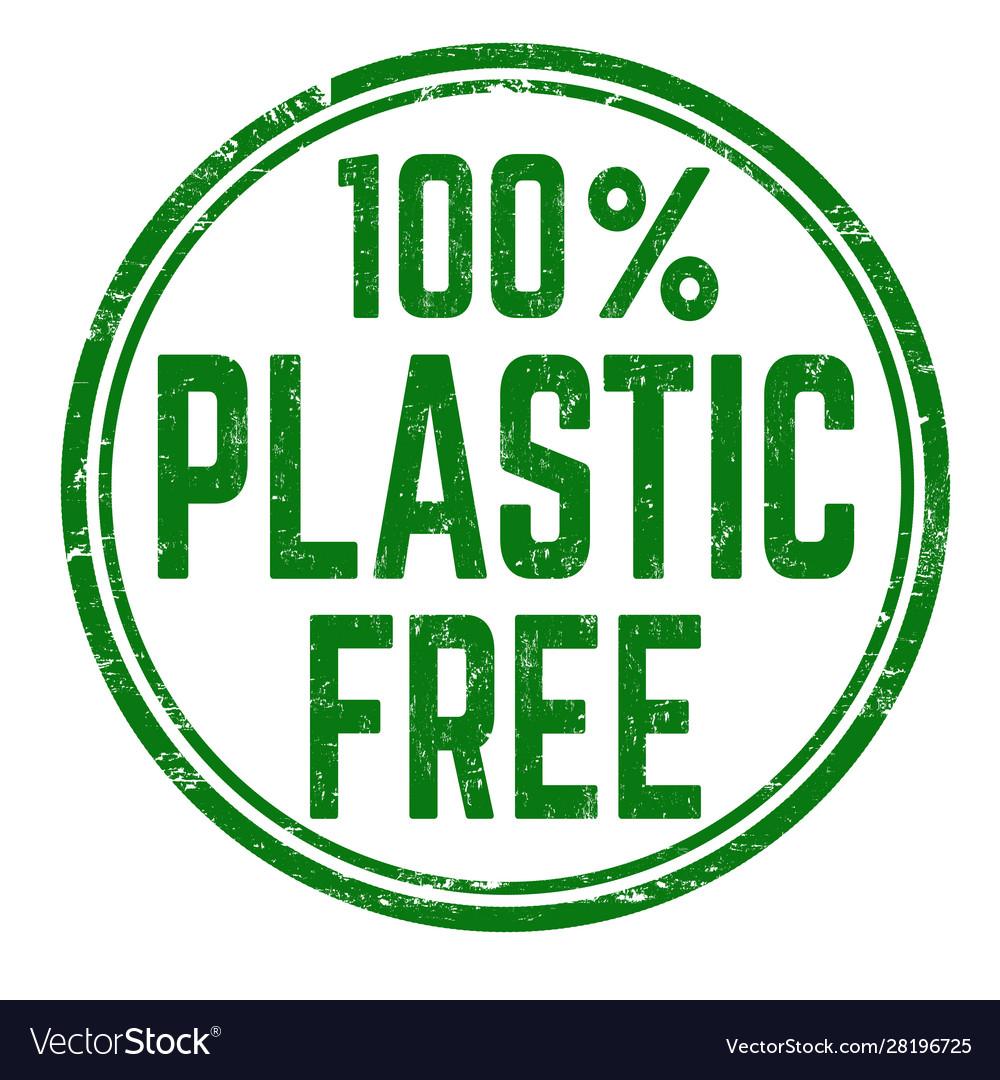 100 plastic free grunge rubber stamp