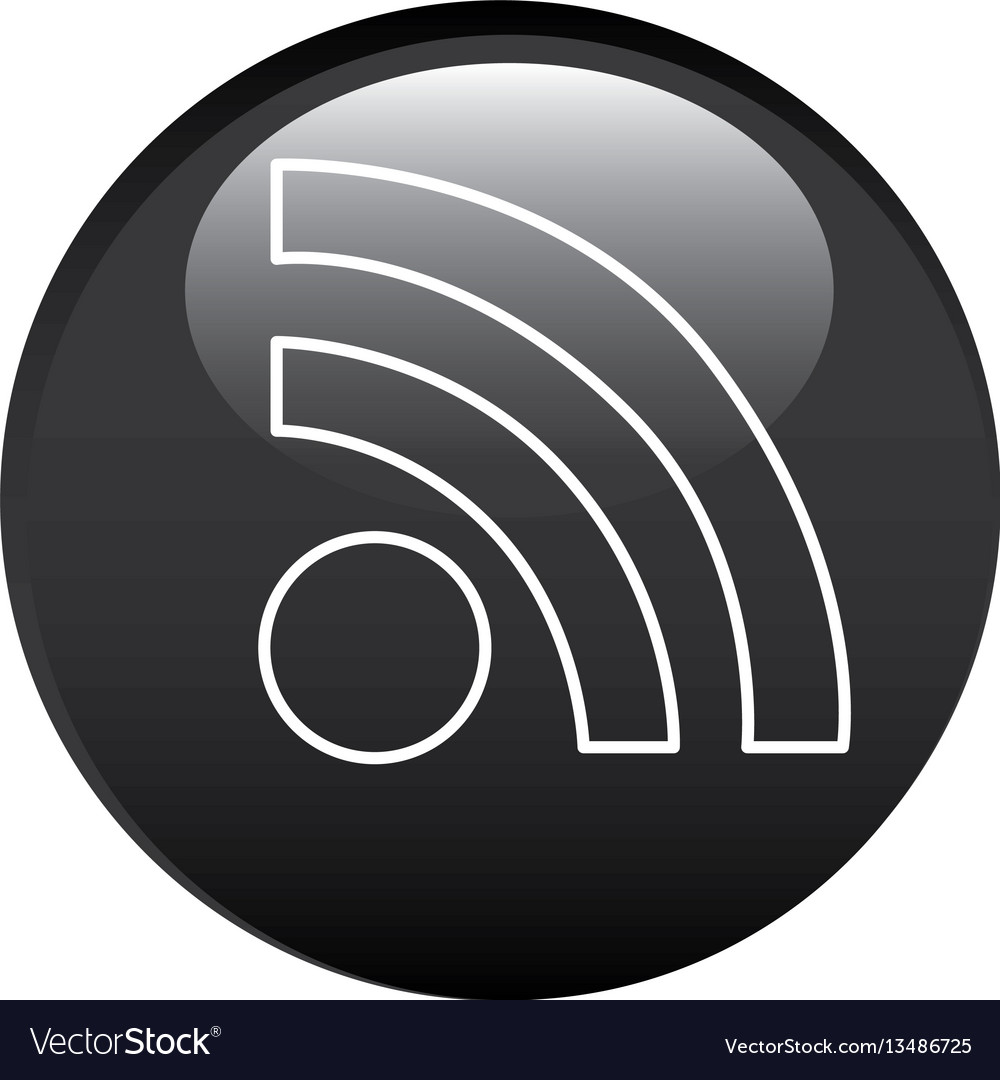 Black circular frame with wifi icon