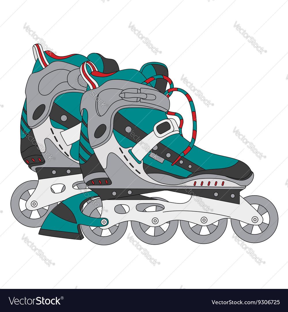Color roller skates 01