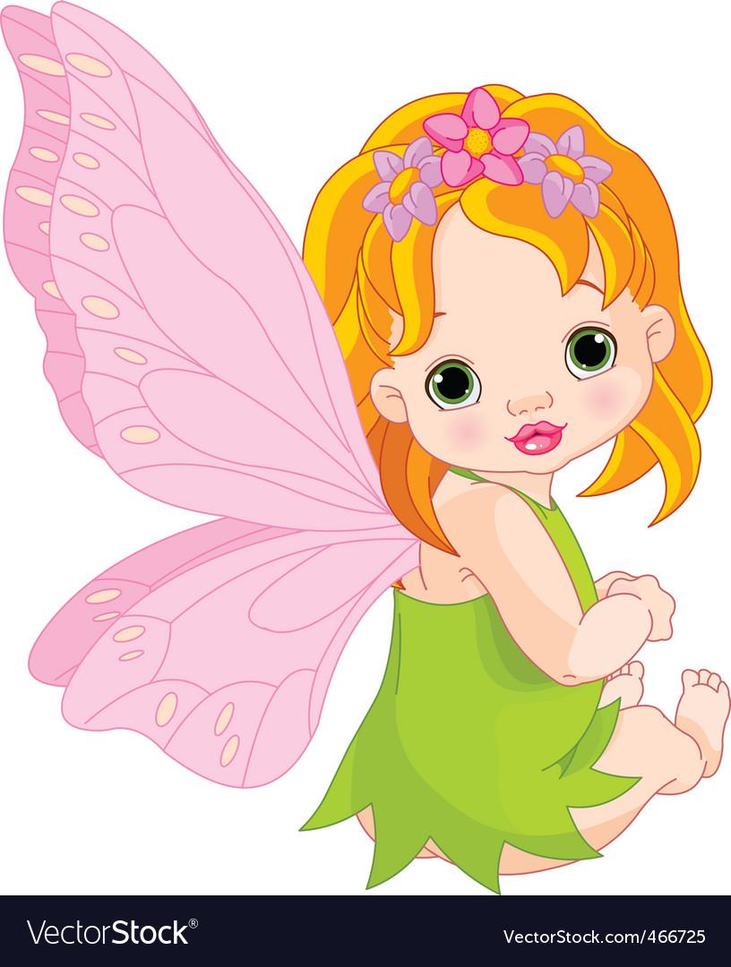 Cute baby fairy vector image